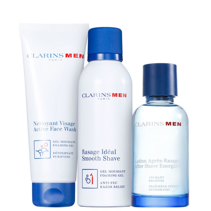 Kit Barba Clarins Men Smooth Shave (3 produtos)