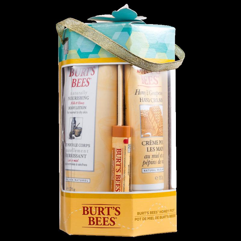 Kit Burt's Bees Honey Pot (3 produtos)