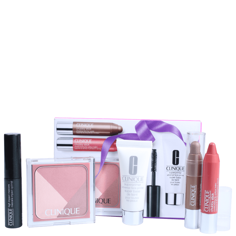 Kit Clinique Primed, Pink & Plush Gift (5 produtos)
