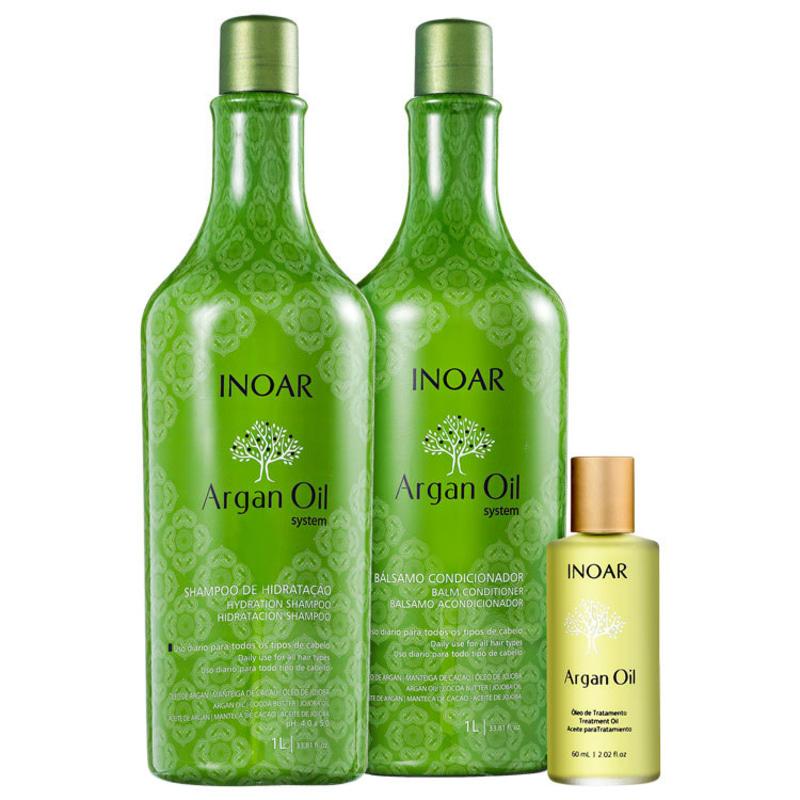 Kit Inoar Argan Oil Finalização (3 produtos)