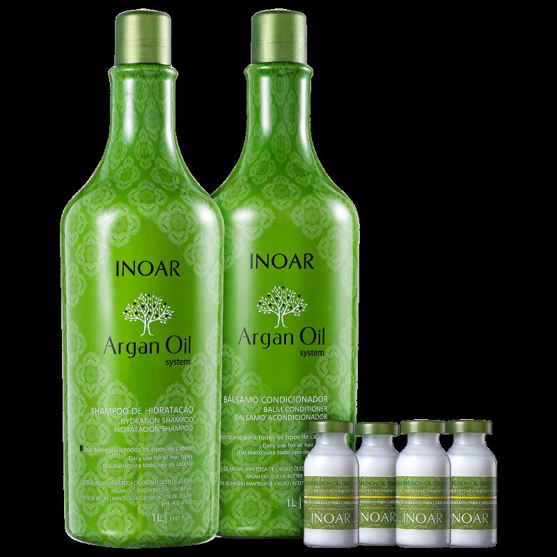 Kit Inoar Argan Oil Infusion (3 produtos)