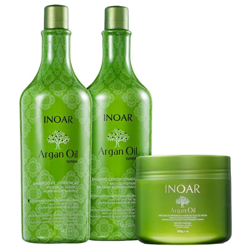 Kit Inoar Argan Oil Tratamento (3 produtos)