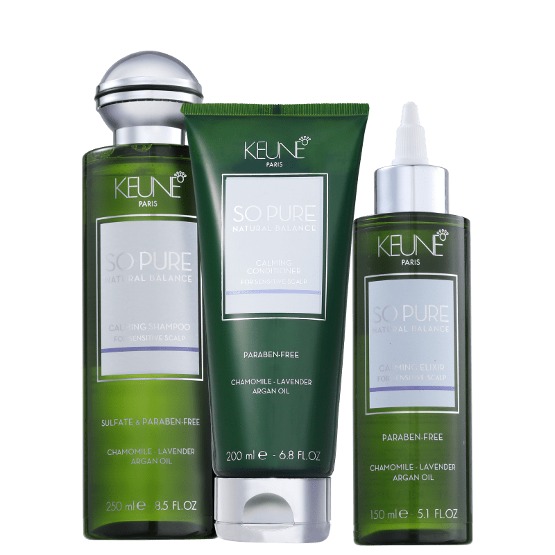 Kit Keune So Pure Calming Elixir (3 Produtos)