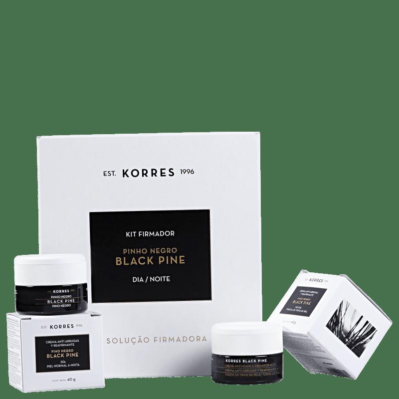 Kit Korres Black Pine Pele Normal a Mista Dia e Noite (2 produtos)