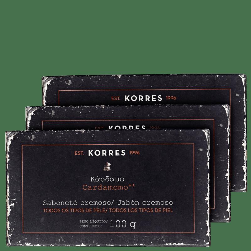 Kit Korres Cardamomo - Sabonetes em Barra 3x100g