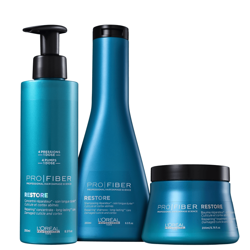 Kit L'Oréal Professionnel Pro Fiber Power Restore (3 Produtos)