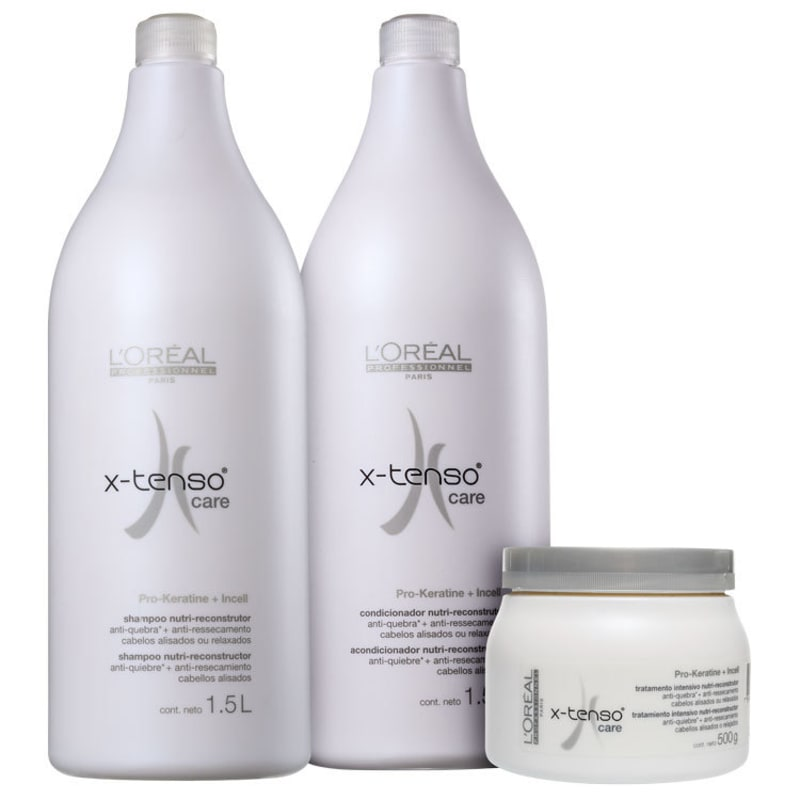 Kit L'Oréal Professionnel X-Tenso Care Salon (3 Produtos)