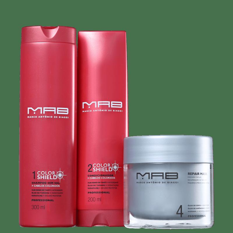 Kit MAB Marco Antônio de Biaggi Color Shield Cor e Reparação (3 Produtos)