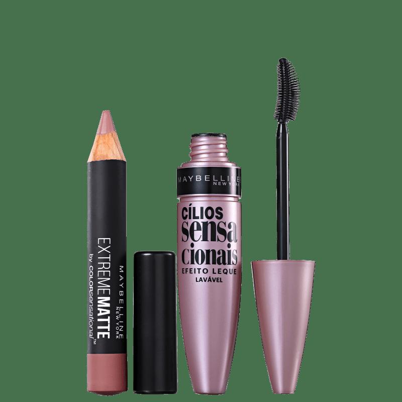 Kit Maybelline Color and Lash Sensational (2 produtos)