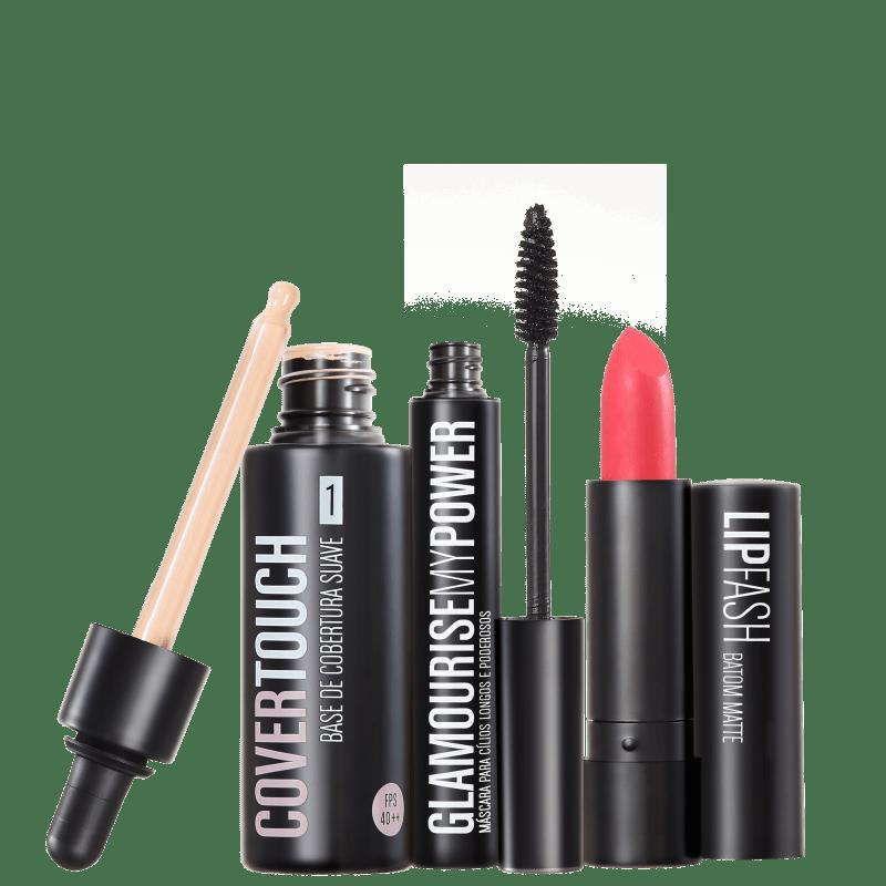 Kit Océane Femme Cover Touch 1 Glamourise Lip Fash Apocalips (3 produtos)