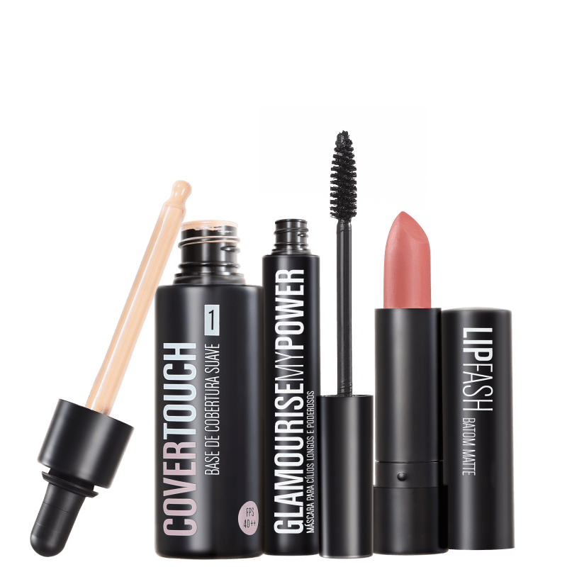 Kit Océane Femme Cover Touch 1 Glamourise Lip Fash Gorgeous Nut (3 produtos)