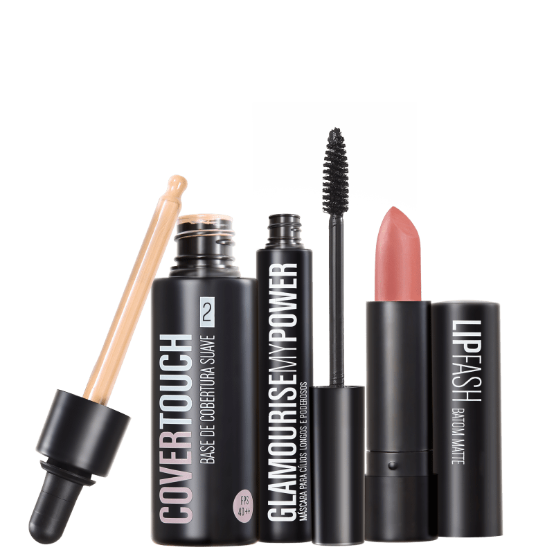 Kit Océane Femme Cover Touch 2 Glamourise Lip Fash Gorgeous Nut (3 produtos)