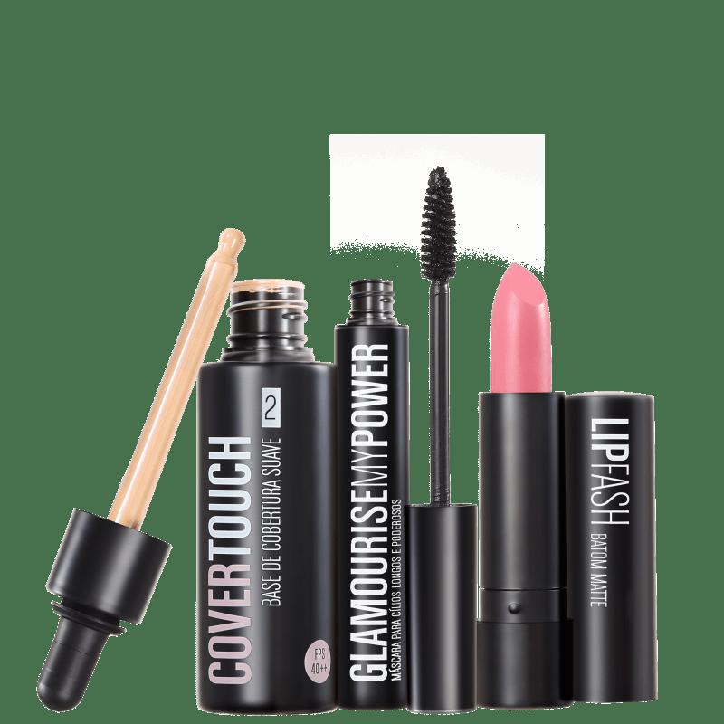 Kit Océane Femme Cover Touch 2 Glamourise Lip Fash Vive La Vie (3 produtos)