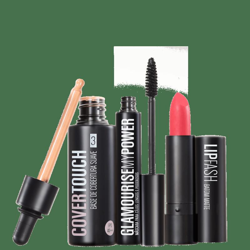 Kit Océane Femme Cover Touch 3 Glamourise Lip Fash Apocalips (3 produtos)