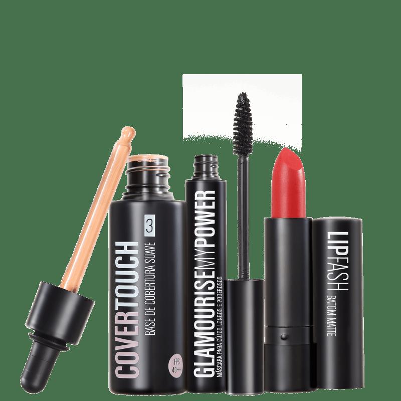 Kit Océane Femme Cover Touch 3 Glamourise Lip Fash Cassandra (3 produtos)