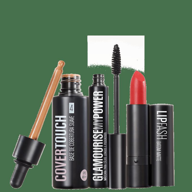 Kit Océane Femme Cover Touch 4 Glamourise Lip Fash Cassandra (3 produtos)