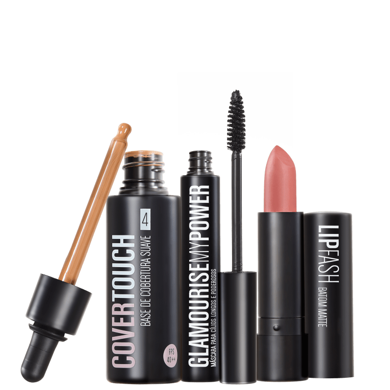 Kit Océane Femme Cover Touch 4 Glamourise Lip Fash Gorgeous Nut (3 produtos)
