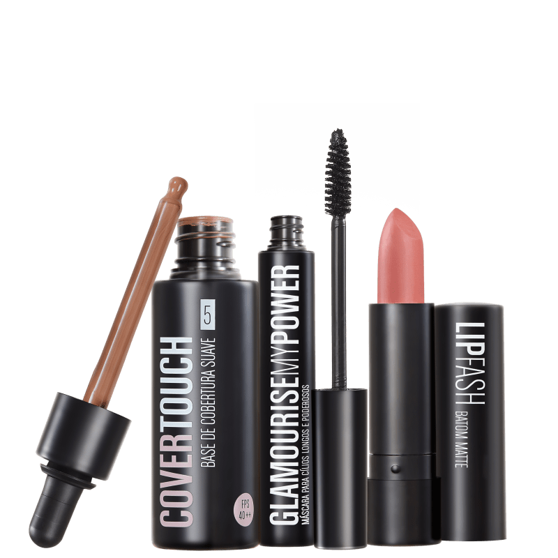Kit Océane Femme Cover Touch 5 Glamourise Lip Fash Gorgeous Nut (3 produtos)
