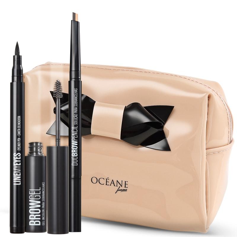 Kit Océane Femme Line My Eyes Brow Glamourise Starlet (4 produtos)