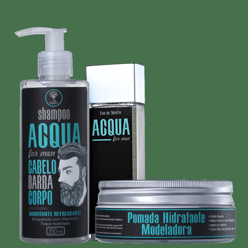 Kit Orgânica Acqua Completo For Men (3 produtos)