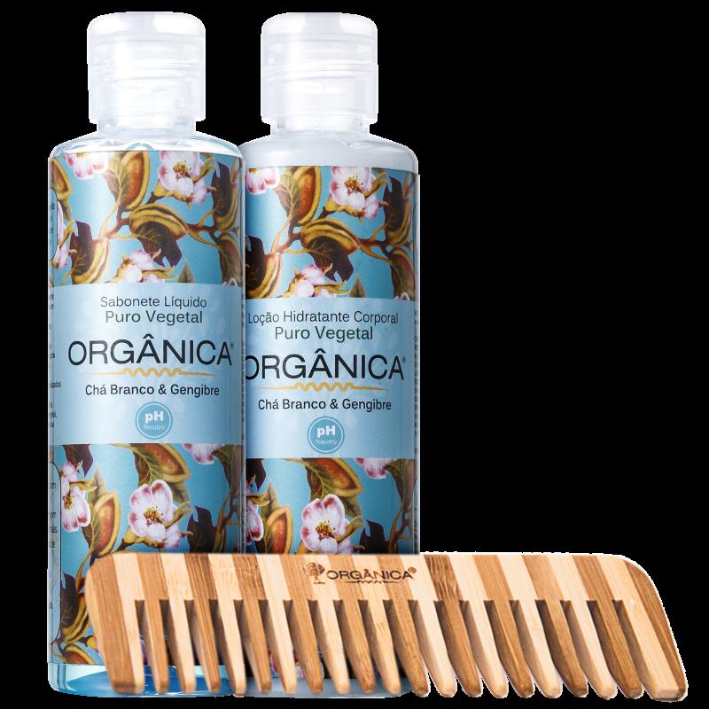 Kit Orgânica Set Chá Branco e Gengibre (3 produtos)