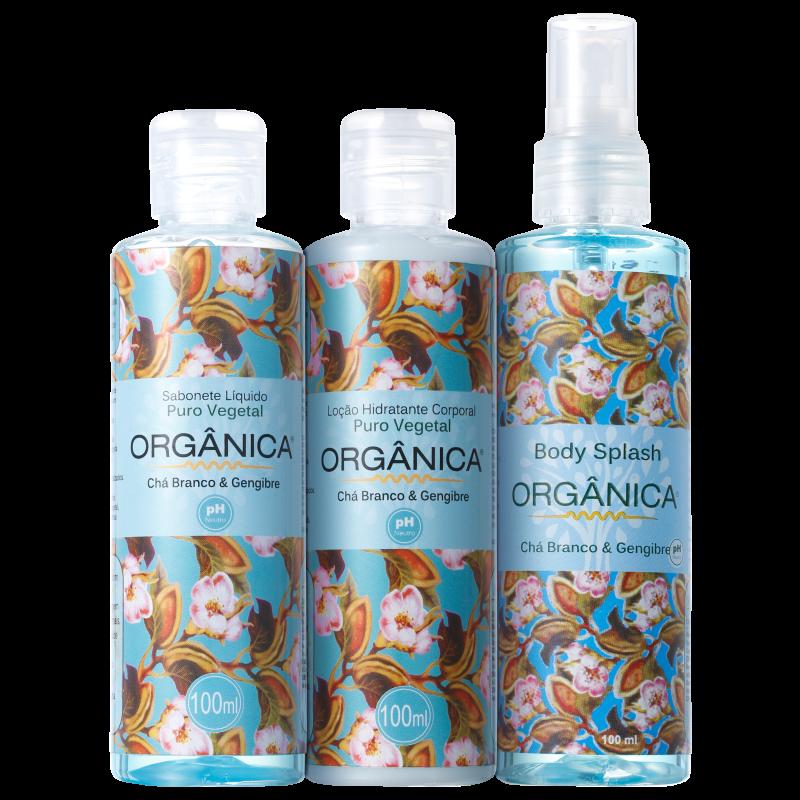 Kit Orgânica Tri Set Chá Branco e Gengibre (3 produtos)