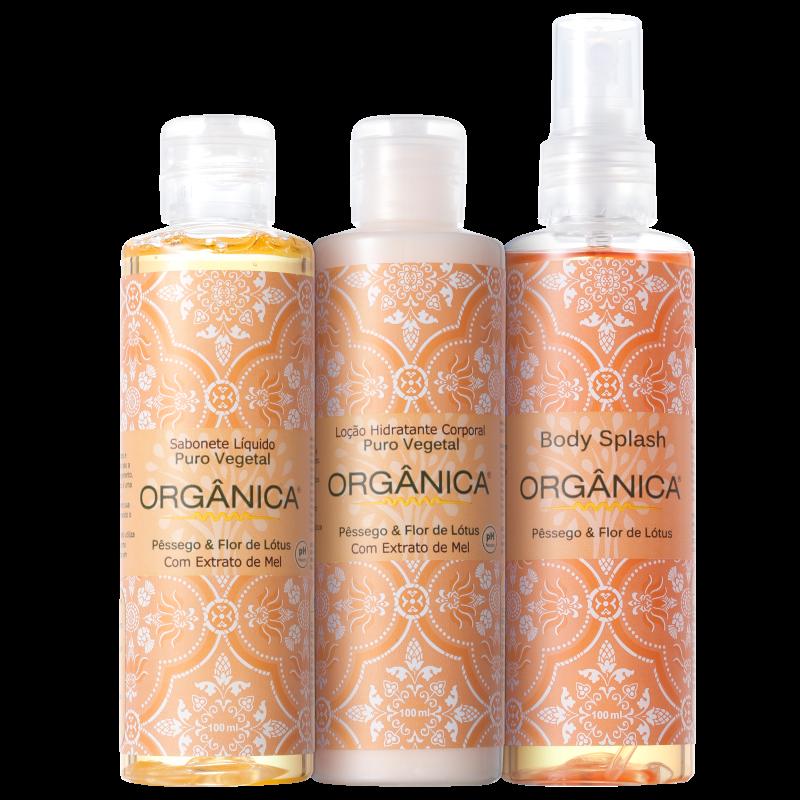 Kit Orgânica Tri Set Pêssego e Flor de Lótus (3 produtos)