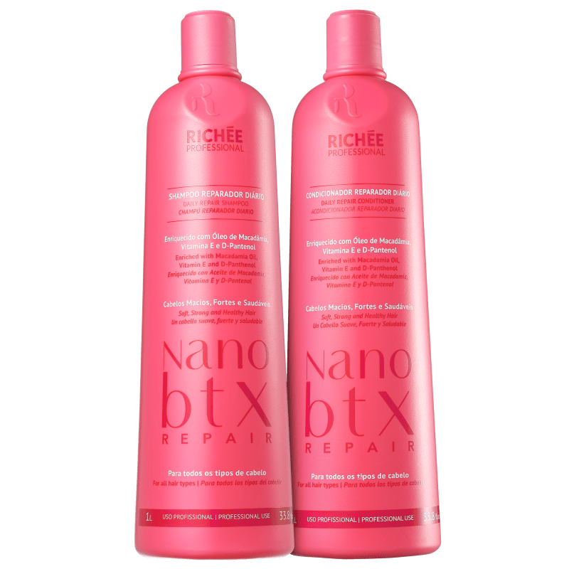 Kit Richée Professional Nano Botox Repair Duo Salão (2 Produtos)