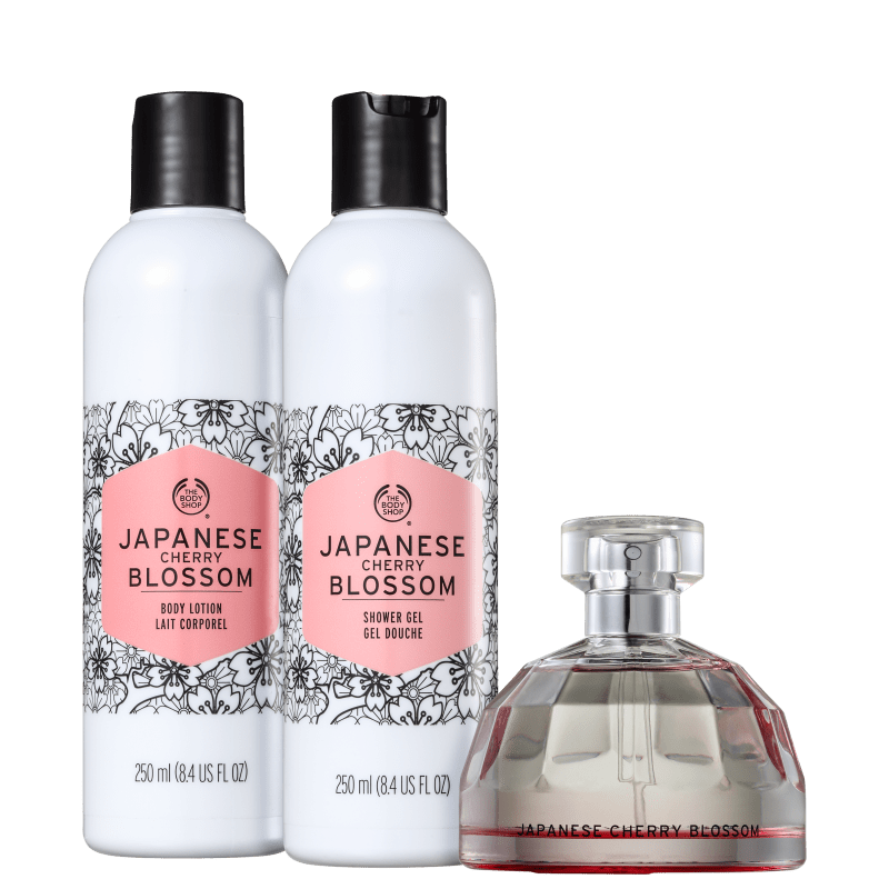 Kit The Body Shop Japanese Cherry Blossom Daily (3 Produtos)