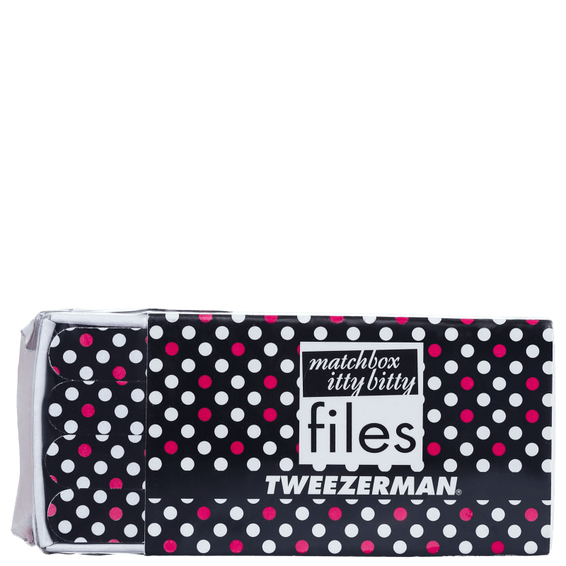 Kit Tweezerman Hot for Dots Matchbox Files de Mini Lixas (12 unidades)