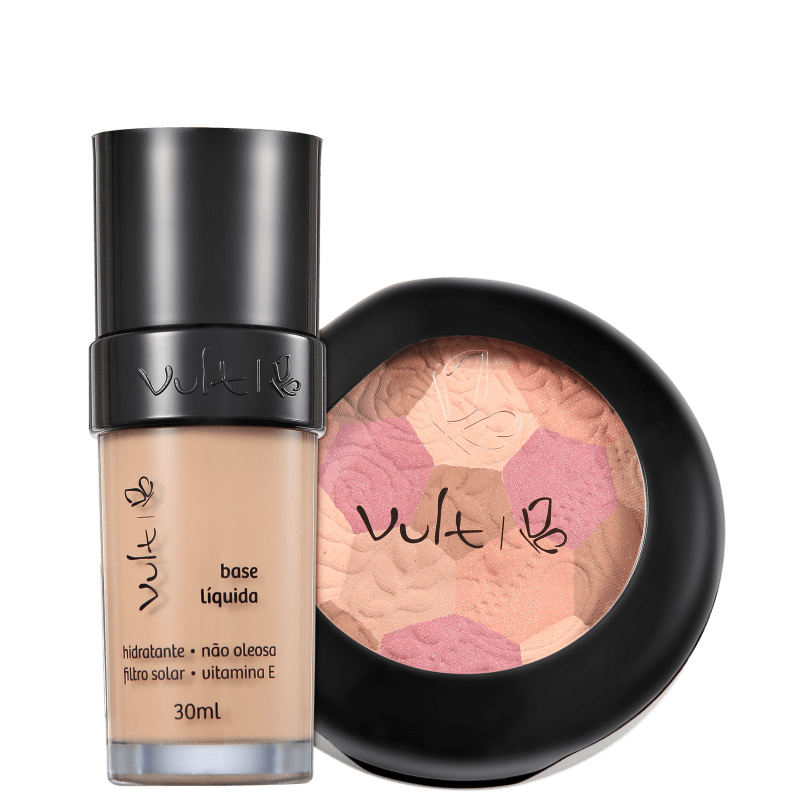 Kit Vult Make Up 01 Bege Mosaico (2 produtos)