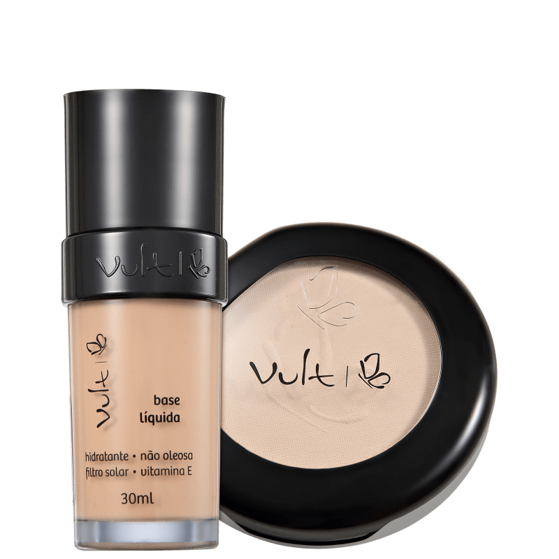 Kit Vult Make Up 01 Bege Translúcido Duo (2 produtos)