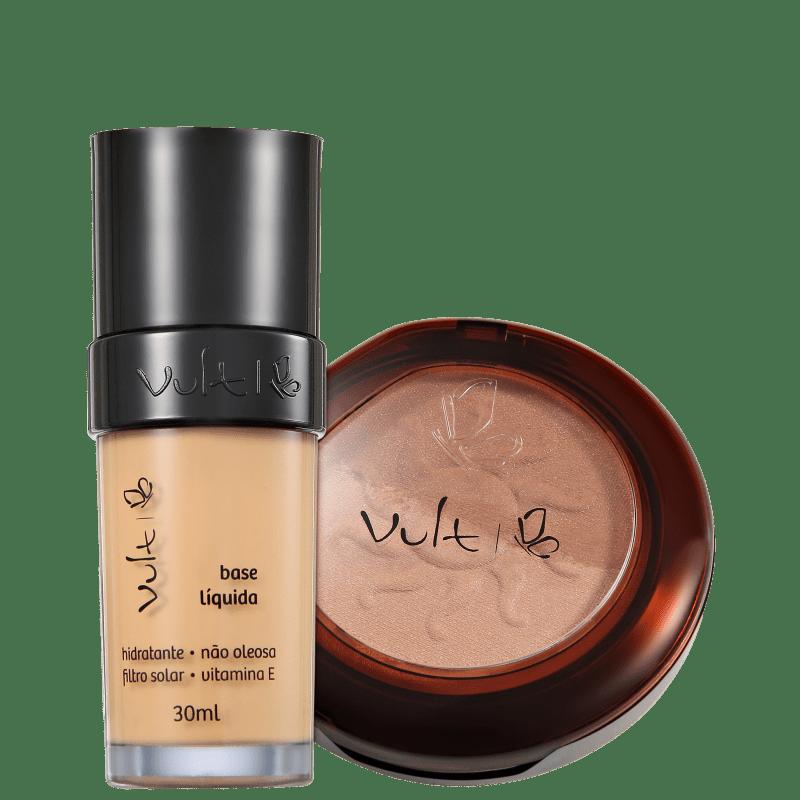 Kit Vult Make Up 03 Bege Duo Soleil (2 produtos)