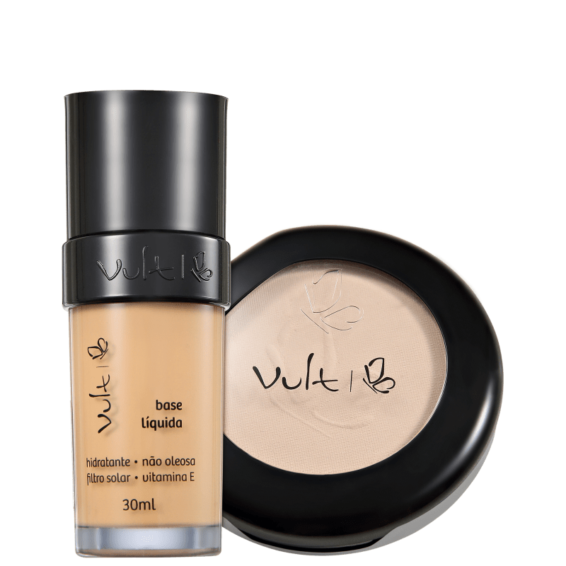 Kit Vult Make Up 03 Bege Translúcido Duo (2 produtos)