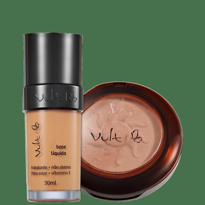 Kit Vult Make Up 04 Marrom Duo Soleil (2 produtos)