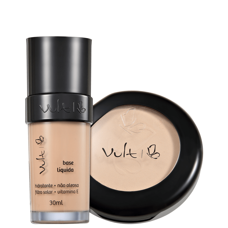 Kit Vult Make Up Base Pó 01 Bege (2 produtos)
