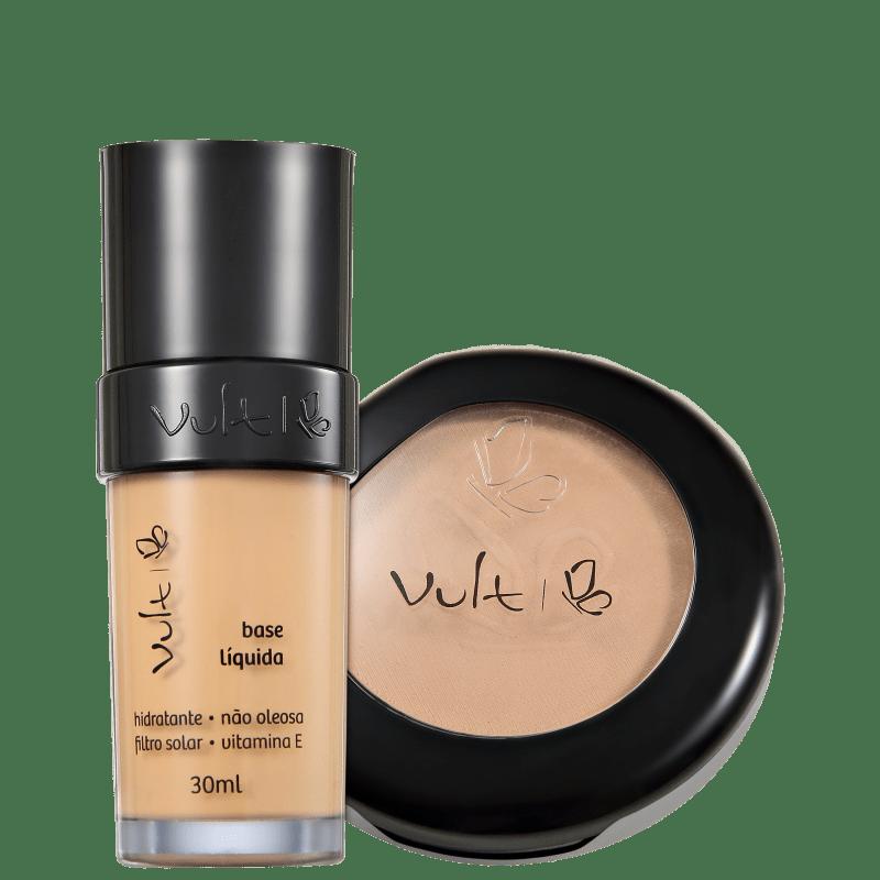 Kit Vult Make Up Base Pó 03 Bege (2 produtos)