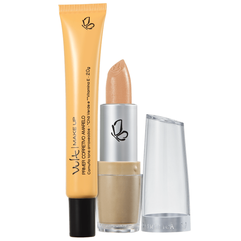 Kit Vult Make Up Corretivo Primer Amarelo (2 produtos)