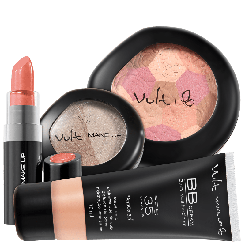 Kit Vult Make Up Multifuncional Moisaco Bege FPS 35 (4 produtos)