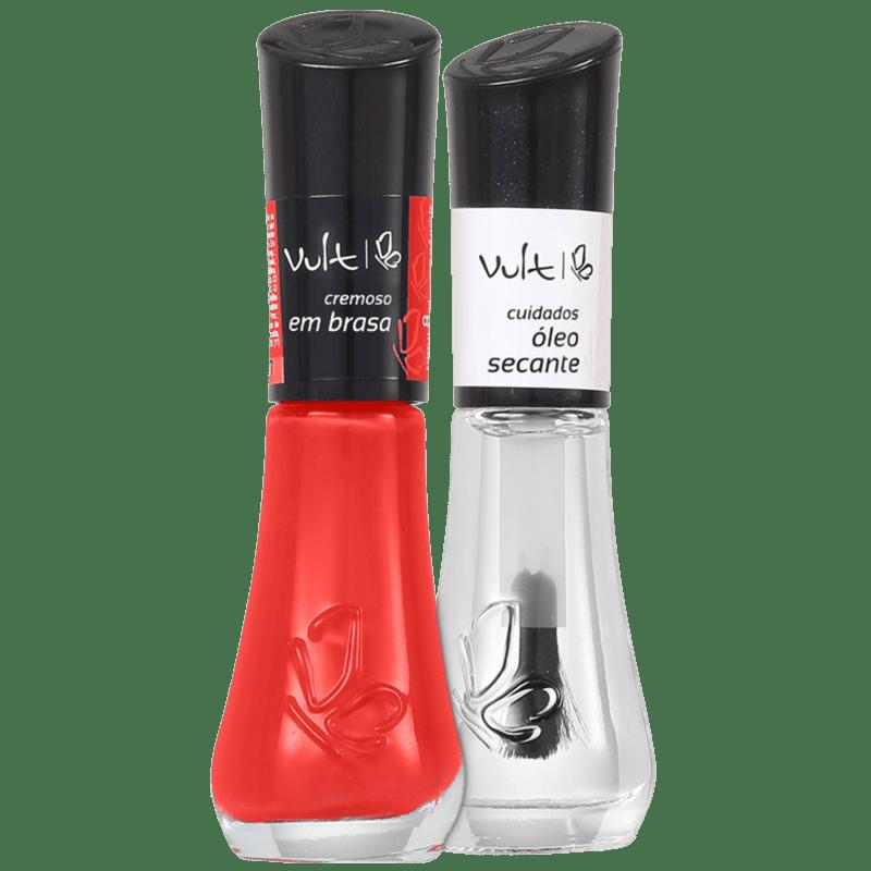 Kit Vult Unhas Em Brasa Secante Duo (2 produtos)
