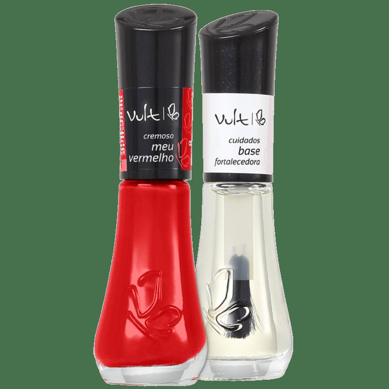 Kit Vult Unhas Meu Vermelho Fortalecedora Duo (2 produtos)