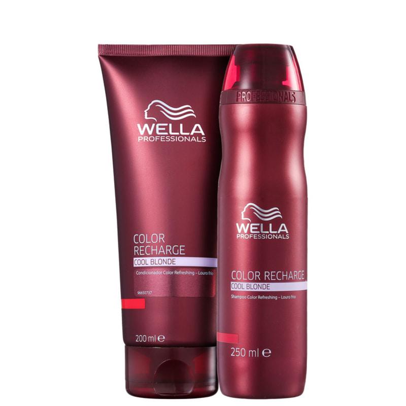 Kit Wella Professionals Color Recharge Cool Blonde Duo (2 Produtos)
