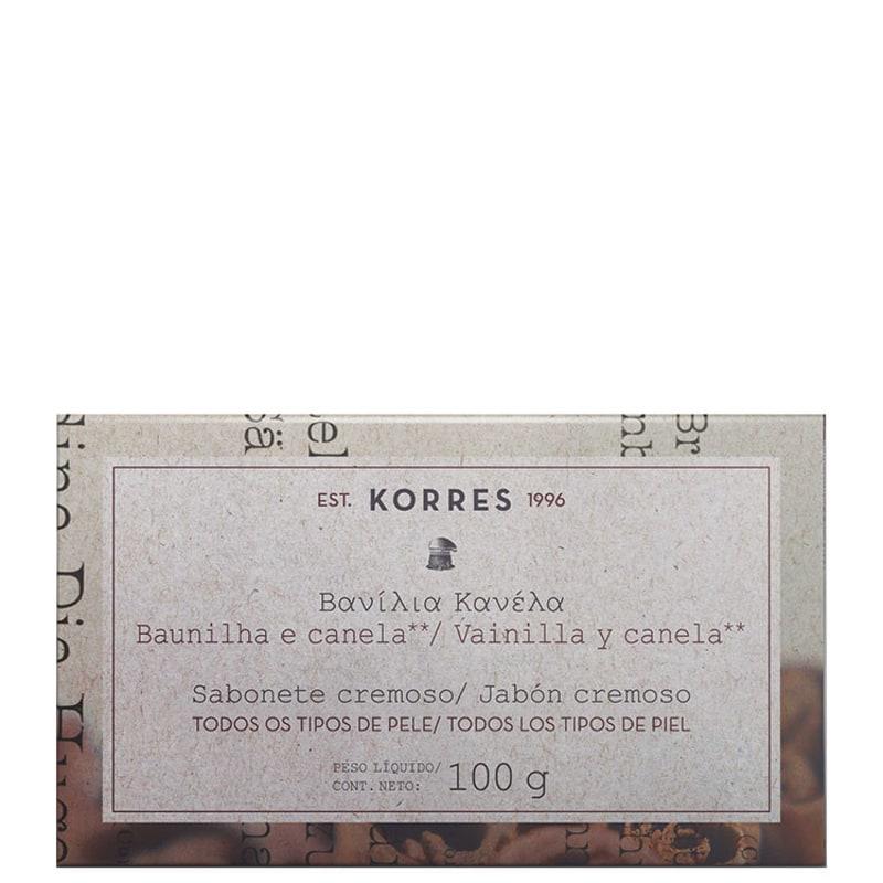 Korres Baunilha e Canela - Sabonete em Barra 100g