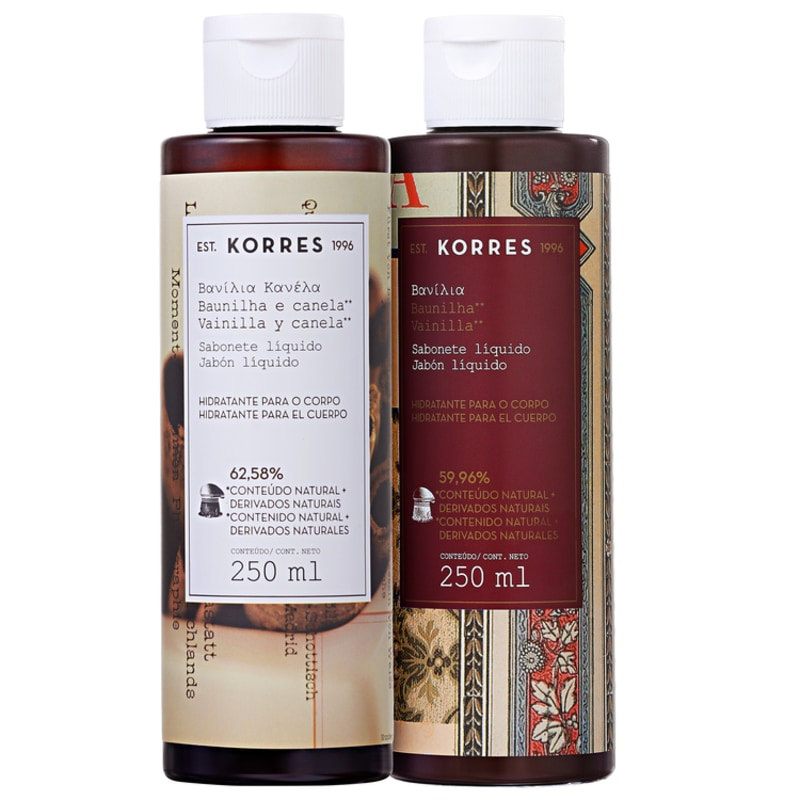 Kit Korres Baunilha e Canela Vanilla Dream - Sabonetes Líquidos 2x250ml