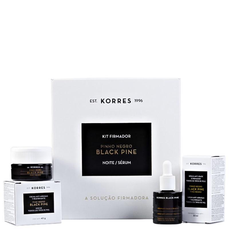 Kit Korres Black Pine Firmador Noite (2 produtos)
