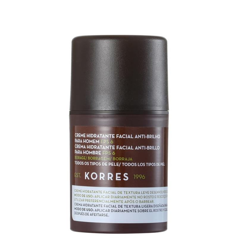 Korres Borage Anti-Brilho FPS 6 - Hidratante Facial 45g