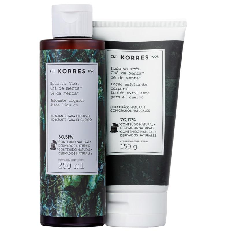 Kit Korres Chá de Menta Corpo e Banho (2 produtos)
