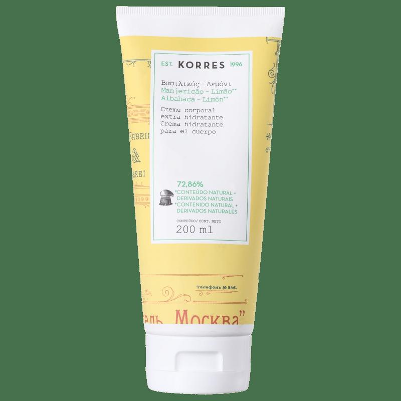 Korres Manjericão-Limão - Creme Hidratante Corporal 200ml