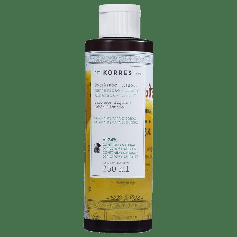 Korres Manjericão-Limão - Sabonete Líquido 250ml
