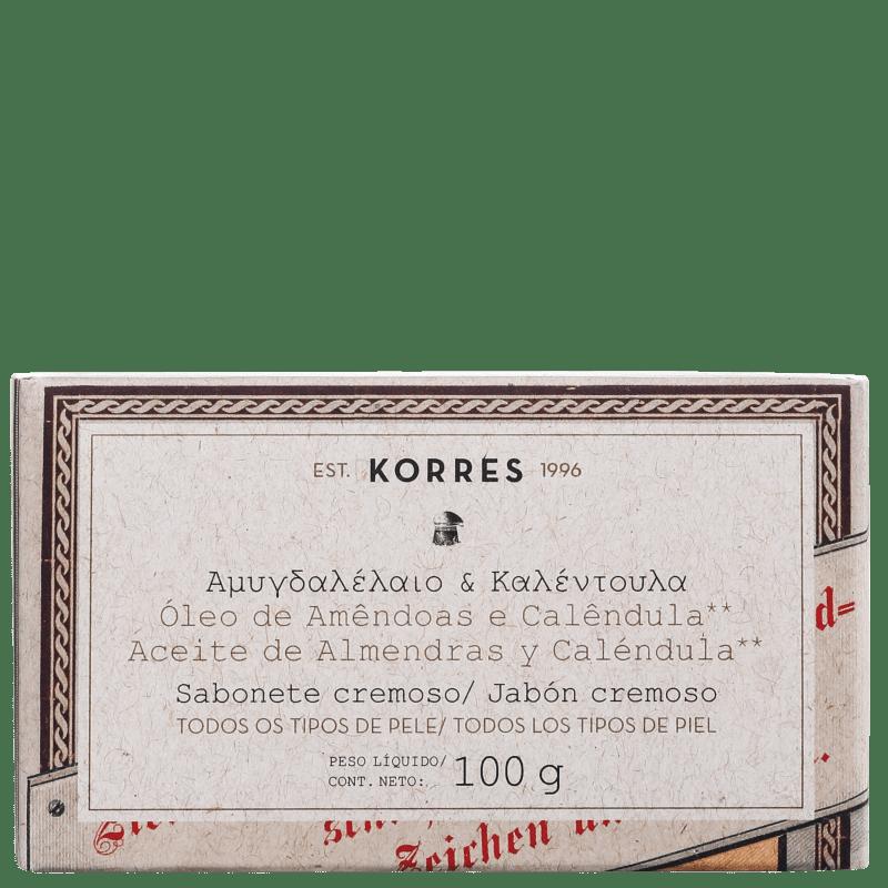 Korres Óleo de Amêndoas e Calêndula - Sabonete em Barra 100g